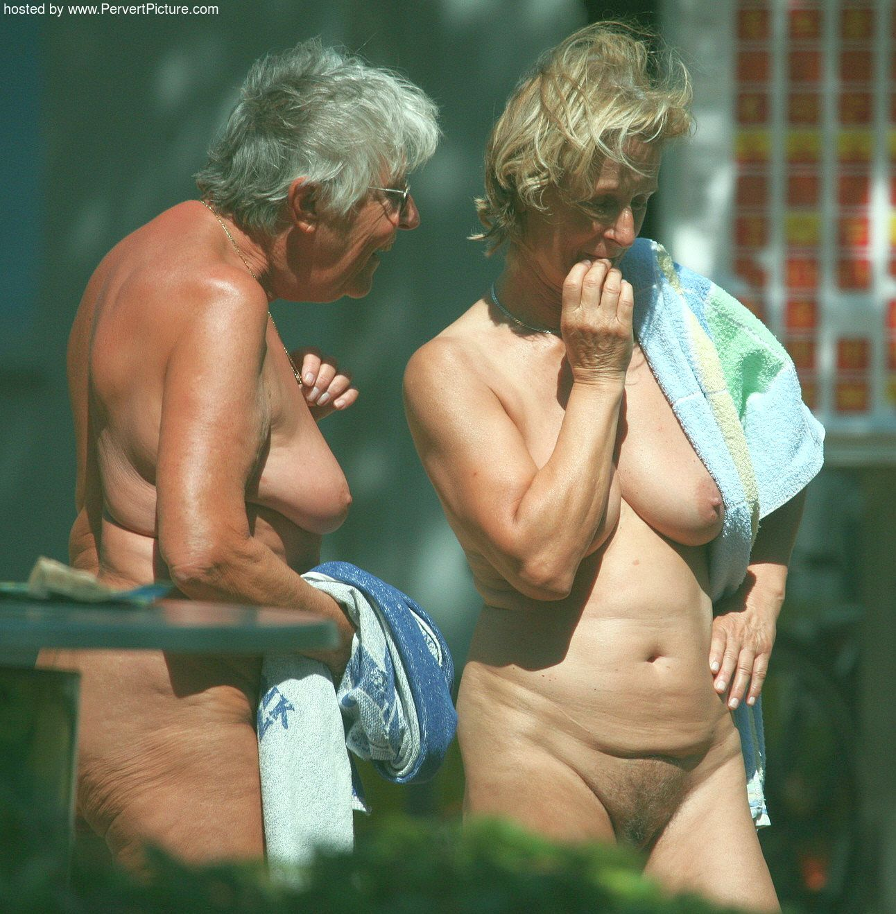 Grannies nudist watching but